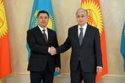 Kyrgyzstan president visits Kazakhstan