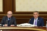 Russia's Tatarstan's president Minnikhanov visits Uzbekistan